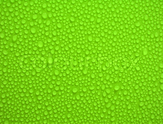 water drops on green background and texture