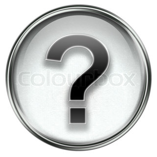 question symbol icon grey, isolated on white background