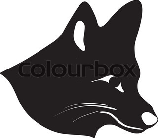 silhouette of fox