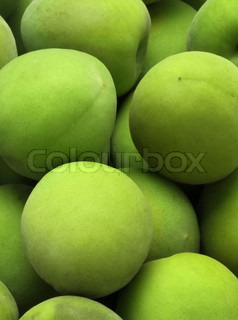 Green fruits background for you and your web