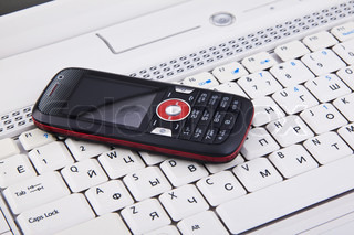 keyboard and mobile phone background