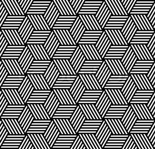 Seamless pattern in op art design