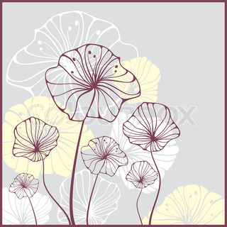 cute card with abstract flowers