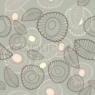 vector abstract cute seamless background with flowers