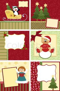 Cute collection of kids christmas postcards
