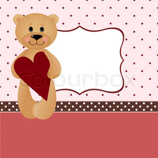 Template for Valentine or Wedding greetings card or postcard (EPS10)