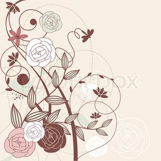 vector abstract cute floral background with flowers