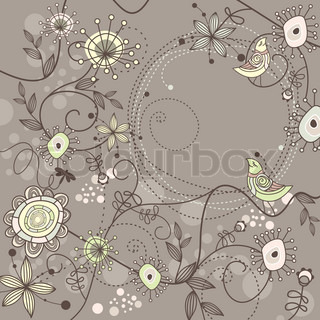 cute floral background with free place for your text