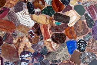 background color of polished stones
