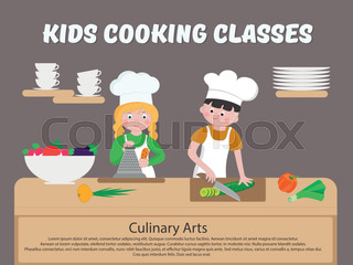 Kids Cooking Classes Poster Children Cook  Cooking Certificate Template