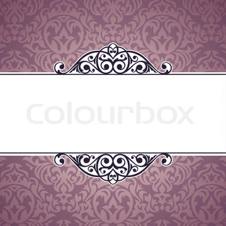 abstract cute decorative vintage frame vector illustration