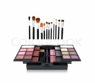 Professional make-up tools and make-up box