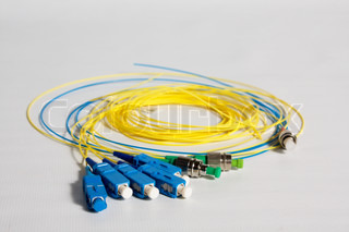 the fiber optic cable pigtails with black FC connectors