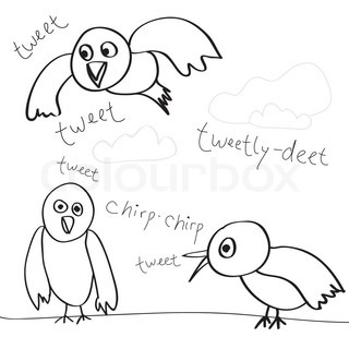 A collection of bird doodles isolated over whiteEasily customize these vector sketches to suit your needs