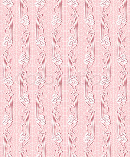Floral vector seamless lace pattern with flowers