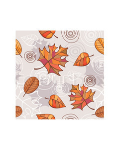 abstract autumn seamless floral background vector illustration