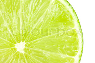 Macro food collection - Lime slice Isolated on white background