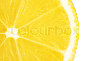 Macro food collection - Lemon slice Isolated on white background