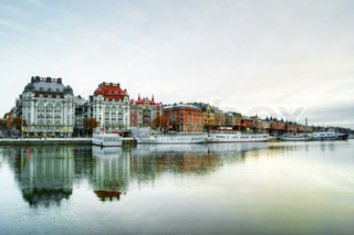 View of Stockholm city at dawn