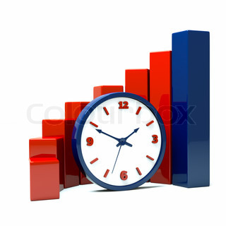 a diagram with clock a business concept