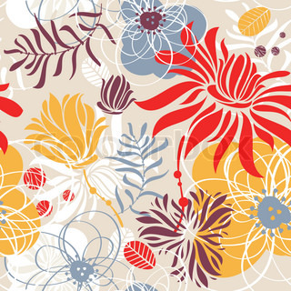 abstract lovely seamless floral pattern vector illustration