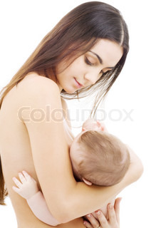 picture of happy mother breastfeeding baby boy