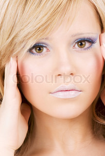 bright closeup picture of lovely girl face