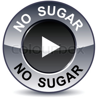 No sugar round metallic button Vector