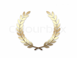 Gold Wreath isolated on a white background