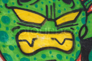 Graffiti on wall, perfect for designs or backgrounds