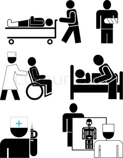Set of black and white simpló vector icons