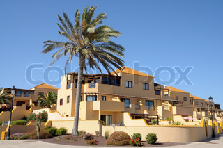 Vacation homes on Canary Island Fuerteventura, Spain