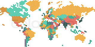 World map dot stock vector colourbox dotted world map with countries borders gumiabroncs Image collections