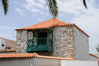 Traditional architecture in Pajara, Canary Island Fuerteventura, Spain
