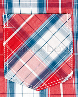 red and blue checkered background pocket