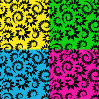 four vector abstract seamless floral backgrounds