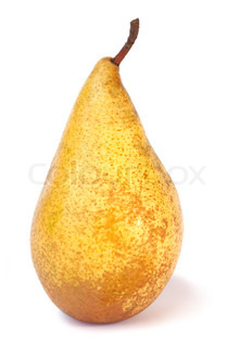 Big yelow delicious pear isolated on white background