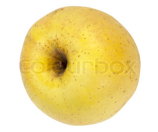 Big yelow delicious apple isolated on white background (with path)