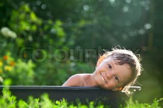 udendørs barn badning