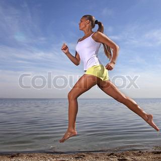 Billede af 'løbende, sunde, strande'