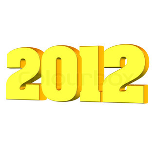 New year 2012, 3D text