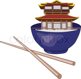 vector - abstract china food isolated on background