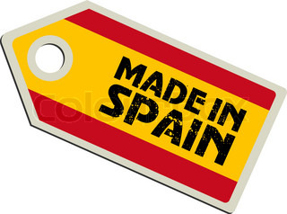 vector label Made in Spain
