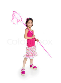 girl with a butterfly net