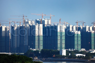 construction of new buildings in the modern city
