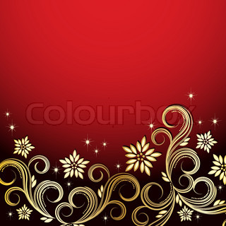 Vector Holiday floral background