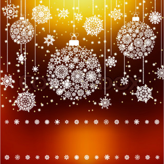 Stylized Christmas Balls, Background EPS 8 vector file included