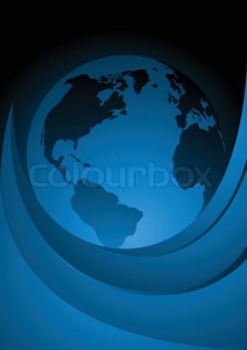 Vector background with globe clip-art