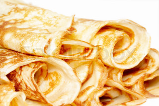 rolled pancakes