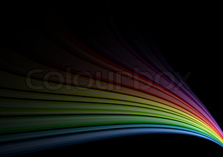 Rainbow background on the black